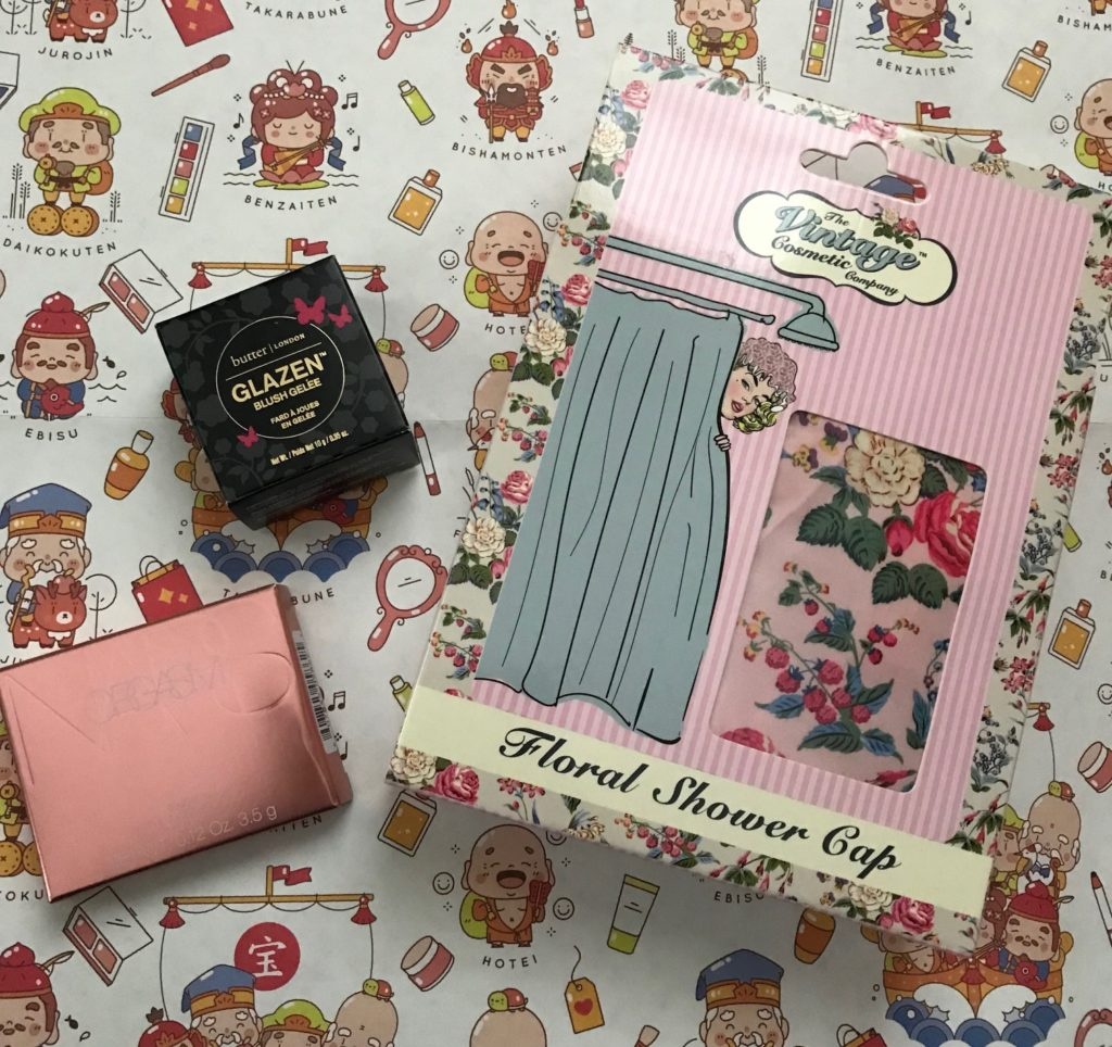 Ulta Spring 2018 Birthday Gift NARS Blush My Purchases Vintage Cosmetics Shower Cap And Butter