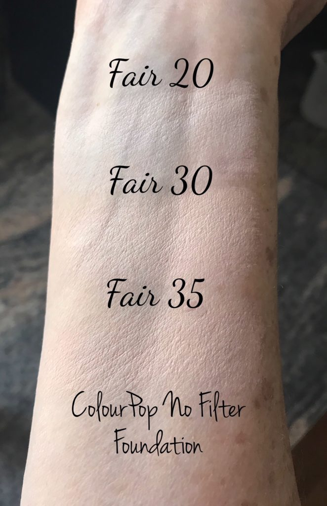 Colourpop No Filter Foundation Never Say Die Beauty