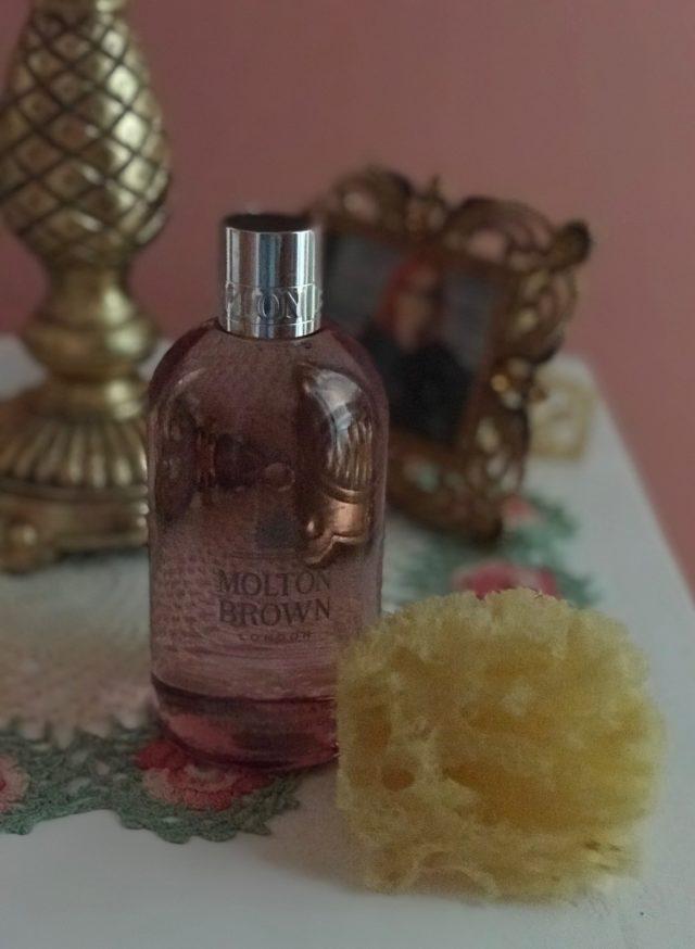 Molton Brown Rhubarb & Rose Bath & Shower Gel, neversaydiebeauty.com