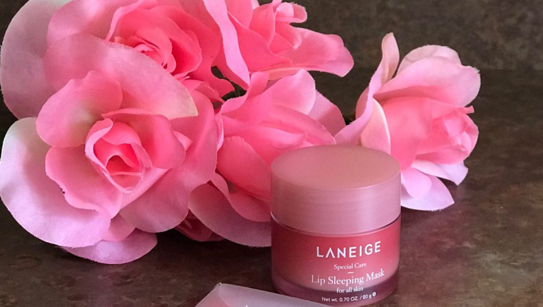 full size jar of Laneige Lip Sleeping Mask, neversaydiebeauty.com and applicator