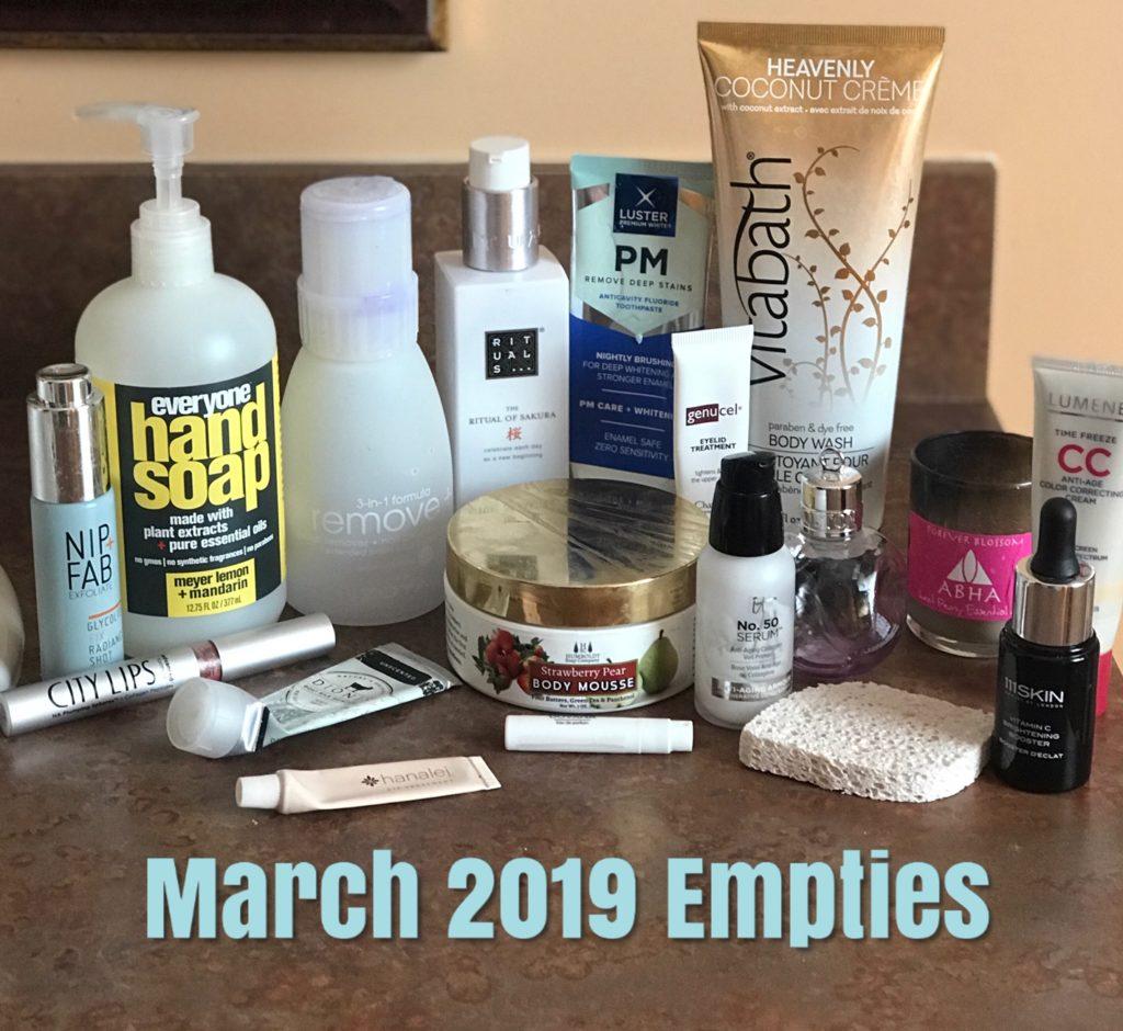 Mars 2019 beauté vide, neversaydiebeauty.com