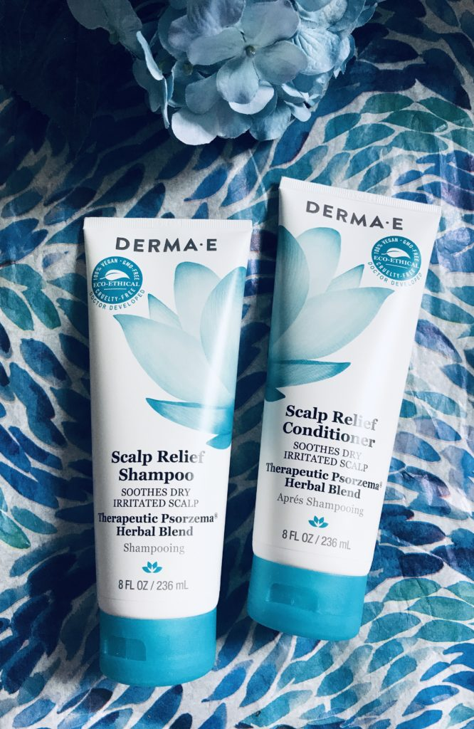 Shampooing et revitalisant soulagement du cuir chevelu Derma E, neversaydiebeauty.com