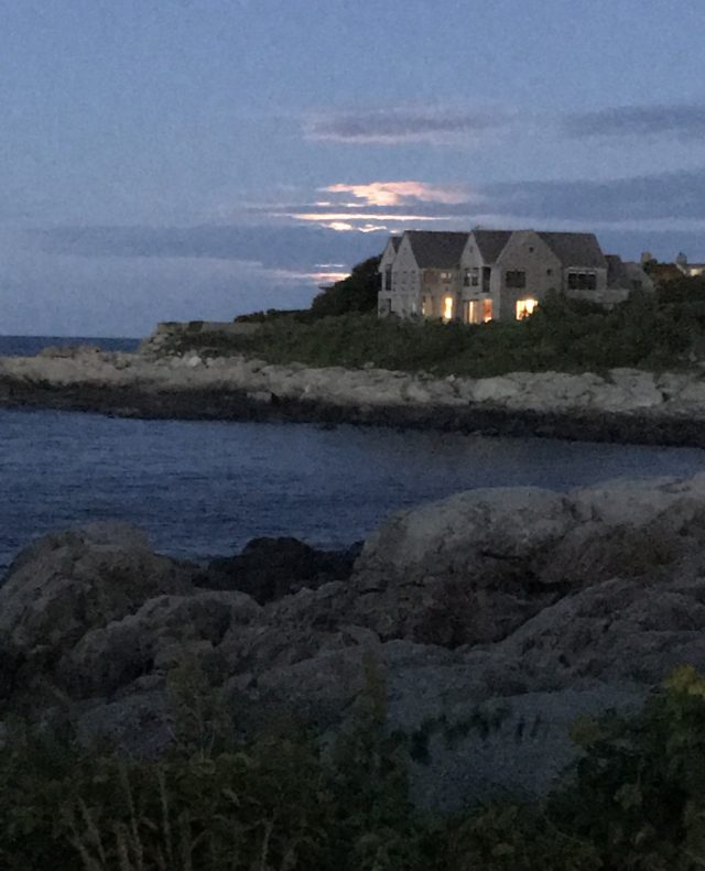 Strawberry Moon from Marmion Way Rockport MA
