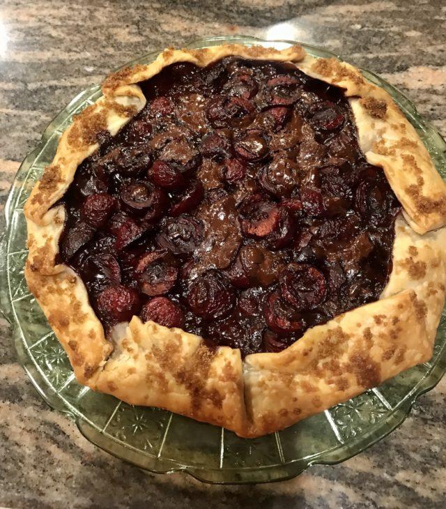 It's Cherry Season! Make an Easy Cherry-Dark Chocolate Galette!